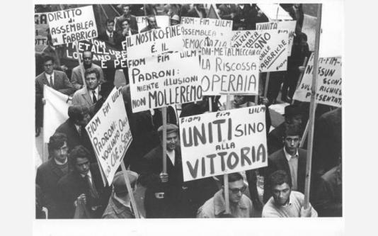 Manifestazione nazionale dei lavoratori metalmeccanici per il contratto di lavoro_1969