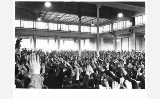 Innocenti - Assemblea dei lavoratori per il contratto_1973