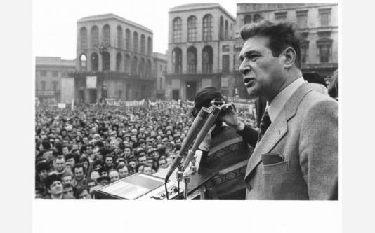 Sciopero generale per l'occupazione e le riforme - Luciano Lama al microfono_19734