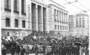 Manifestazione silenziosa dei lavoratori metalmeccanici per il contratto di lavoro e contro l'arresto di 4 lavora_1969